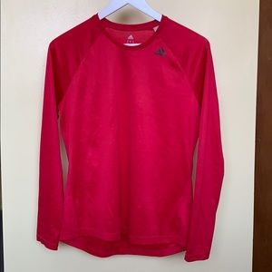 Adidas climalite Red long sleeve